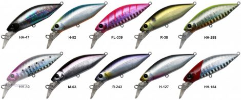HEARTY RISE WOBBLER VALLEY HUNTER HUMP MINNOW 55S R-38